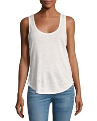 Rag And Bone Rugby Linen Jersey Tank Blanc White