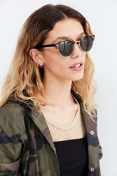 Urban Outfitters Gia Rounded Half Frame Sunglasses Brown