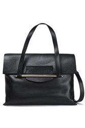 Delpozo Leather Shoulder Bag Black