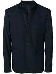 Les Hommes Classic Single Breasted Blazer Blue