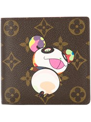 Louis Vuitton Vintage Panda Monogram Bifold Wallet Brown