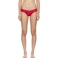 Hanky Panky Red Lace Low Rise Thong