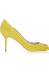 Sergio Rossi Suede Pumps Yellow