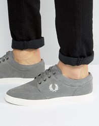 Fred Perry Stratford Suede Trainers Grey