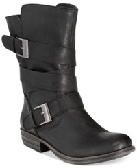 American Rag Cale Strapped Moto Booties Only At Macy's Women's Shoes Black