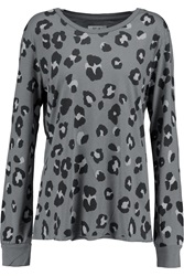 Zoe Karssen Leopard Print Cotton And Modal Blend Top