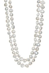 9 10Mm Cultured Gray Baroque Pearl Necklace