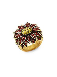 Heidi Daus Poinsettia Ring Goldtone