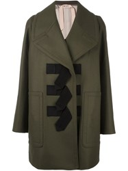 N 21 No21 Toggle Fastening Coat Green