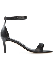 Woman By Common Projects Ankle Strap Sandals Black