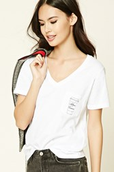 Forever 21 Coffee Please V Neck Tee