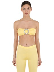 Vivetta Lycra Bandeau Top W Crystal Buckle Yellow