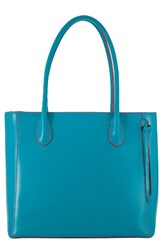 Lodis Cecily Leather Tote Blue Green Turquoise Coral