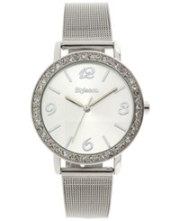 Styleandco. Style And Co. Women's Silver Tone Mesh Bracelet Watch 38Mm Sy020s Only At Macy's
