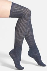 Vince Camuto Lightweight Over The Knee Socks Blue