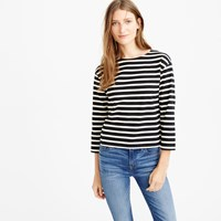 J.Crew Long Sleeve Striped Crewneck T Shirt