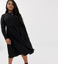Junarose High Neck Midi Dress Black
