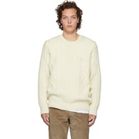 Norse Projects Off White Arild Cable Knit Sweater