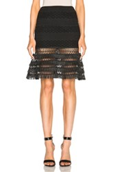 Jonathan Simkhai Mechanical Flare Skirt In Black