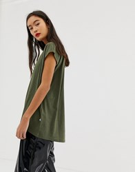Noisy May Wide Neck T Green