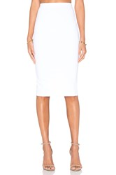 Donna Mizani Back Slit Midi Skirt White