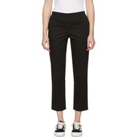 6397 Black Stretch Cotton Pull On Trousers