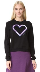Carven Electric Heart Sweatshirt Black