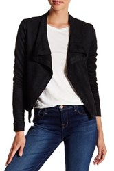 Vigoss Faux Suede Wrap Jacket Black