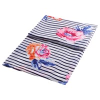 Joules Harmony Rose And Stripe Print Scarf Multi