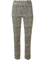 A.P.C. Leopard Print Fitted Trousers Neutrals