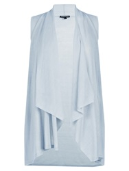 Warehouse Sleeveless Waterfall Top Light Grey