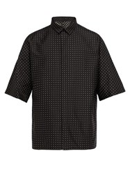 Haider Ackermann Kimono Polka Dot Silk Blend Shirt Black