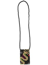 Ground Zero Beaded Shoulder Bag Black