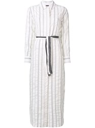 Lorena Antoniazzi Belted Day Dress White