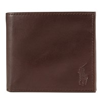 Ralph Lauren Polo Leather Billfold Wallet Mahogany