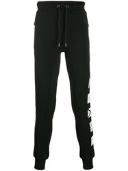 Frankie Morello Printed Track Pants Black