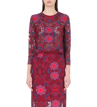 Sandro Floral Embroidered Lace Top