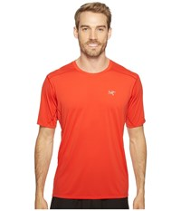 Arc'teryx Accelero Comp S S Cardinal Men's Short Sleeve Pullover Red