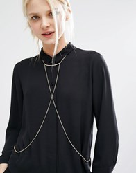 Monki Delicate Body Chain Gold