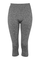 Seamless Capri Leggings By Ivy Park Grey Marl