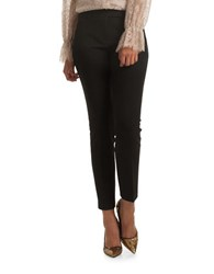 Trina Turk Aubree Doubleweave Luxe Cropped Ankle Pants Black