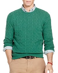Polo Ralph Lauren Cashmere Cable Knit Sweater Baron Green