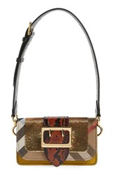 Burberry 'Belt Bag' Mixed Finish Convertible Clutch With Genuine Snakeskin Trim Yellow Larch Yellow Multicolor