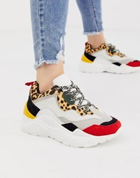 Steve Madden Antonia Leopard Mix Sneakers Multi