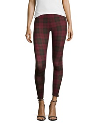 Dex Jersey Plaid Leggings Red Black