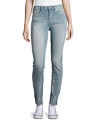 True Religion Distressed Faded Jeans Light Wash Denim Blue