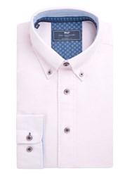 Paul Costelloe Michaelo Oxford Cotton Shirt Pink