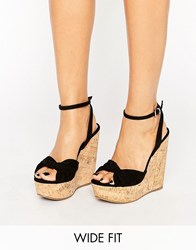 Asos Traffic Jam Wide Fit Wedges Black