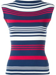 Dolce And Gabbana Ribbed Striped Tank Top Red