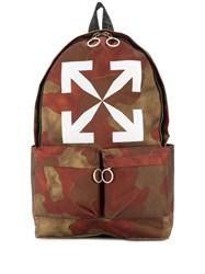 Off White Camouflage Print Backpack 60